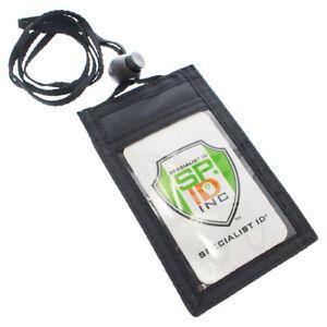 Slim-ID-Badge-Holder-Neck-Wallet-with-Vertical-Front-Display-amp-Zipper-Pocket