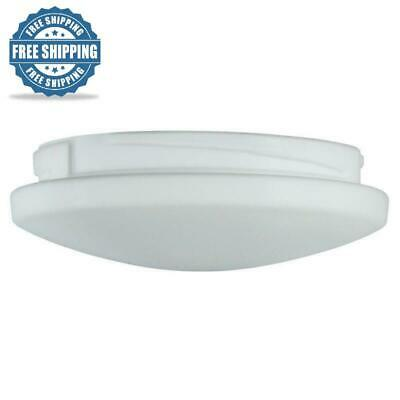 """Brushed Nickel Mercer 52/"""" Ceiling Fan Glass Light Cover Etched Opal Replacement"""