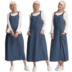 2019-New-Spring-Women-Strappy-Denim-Strap-Dress-Long-Maxi-Overall-Jeans-Pinafore