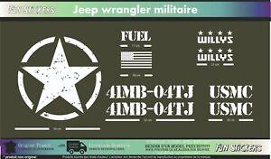 JEEP-UMSC-army-militaire-kit-adhesif-decoration-autocollant-Couleur-au-choix