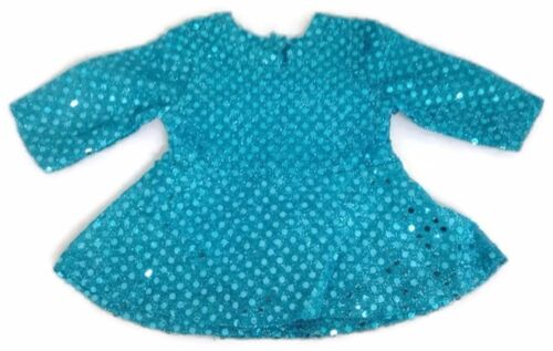 Turquoise Skating Dress /& Earmuffs Doll Clothes for 18 inch American Girl
