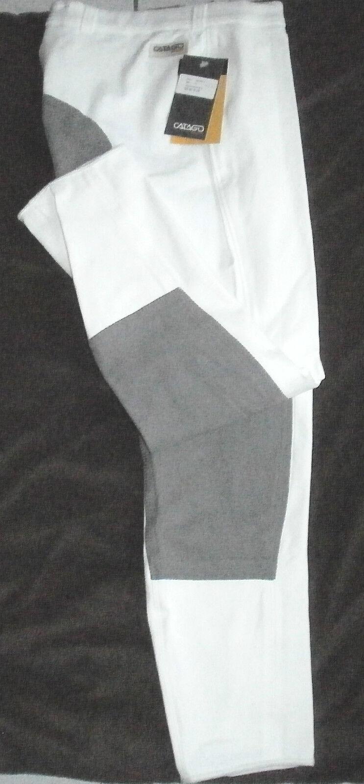 Catago Bambini Pantaloni Montala, 3/4 guarnizione in in in pieno, Bianco, Tg. 152sl, guarnizione in grigio scuro, (1202) 3520e4