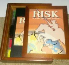 Item 2 RISK Parker Brothers Vintage Bookshelf Game Wooden Box