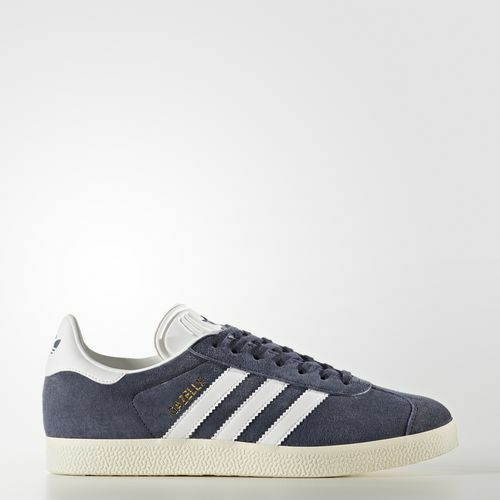Adidas BY9353 Women Gazelle Running shoes blue white gold Sneakers