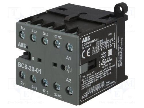 Schütz:3-polig; Hilfsschütze 20÷55°C 1 st NC; 12VDC; 6A; NO x3; BC6;