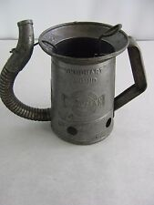 VINTAGE EARLY HUFFMAN 1 QUART SERVICE GAS STATION MOTOR OIL FLEX ARM CAN WORKS