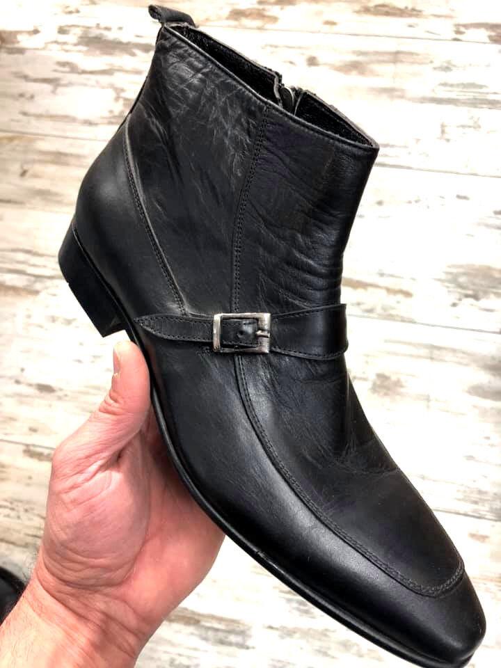 Kalbsleder 40 Stiefel Herren Designer Business Stiefelette Stiefel Reißverschluss 40 Kalbsleder a377d7