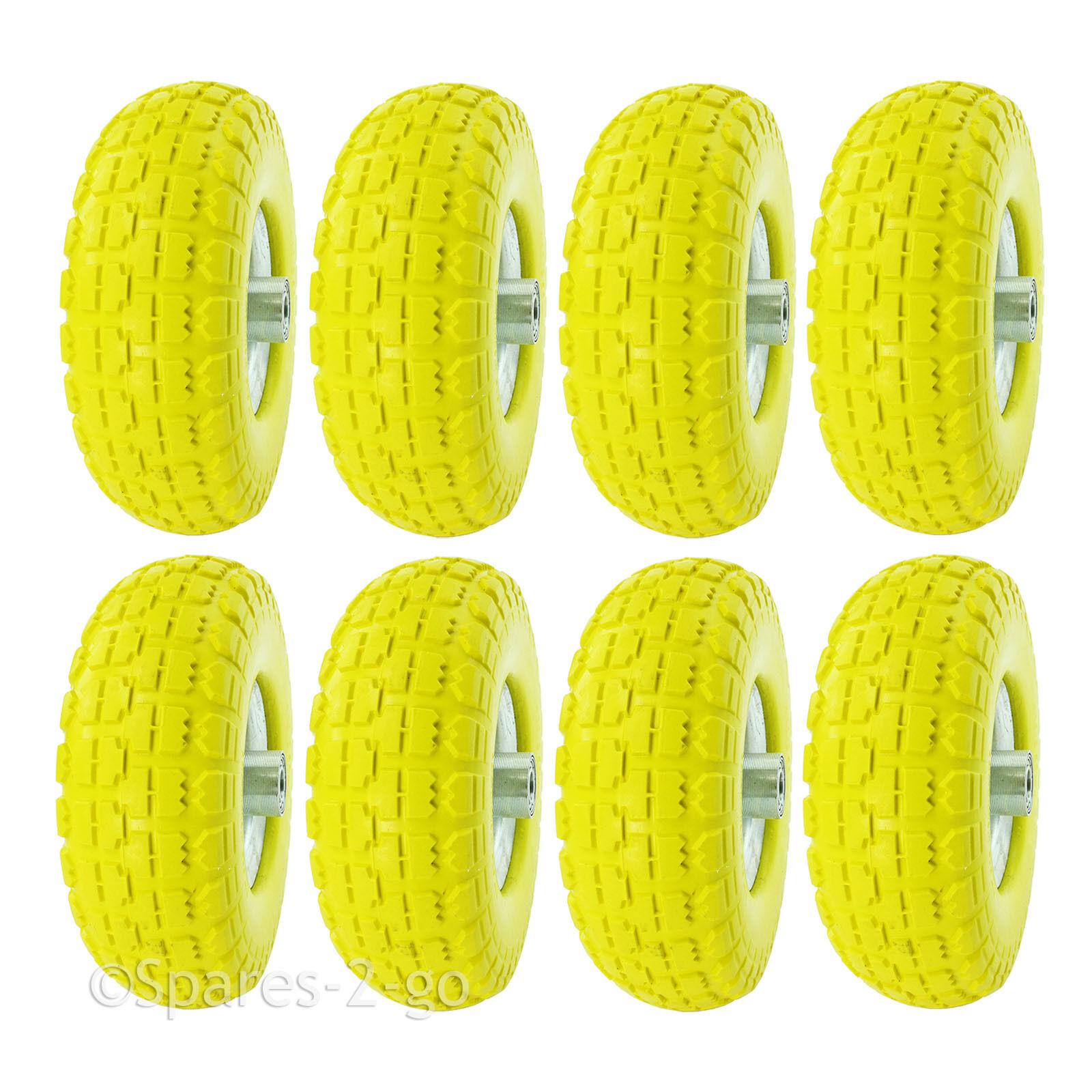 8 X 10  Rueda neumáticos tubeless Barrow Cocheretilla sólido ráfaga Punción Prueba De Repuesto