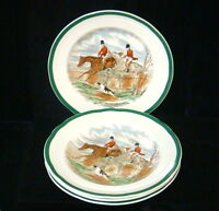 "Spode J.F. Herring Hunt England - 8 Salad Plates - 7 1/2"" - First Over"