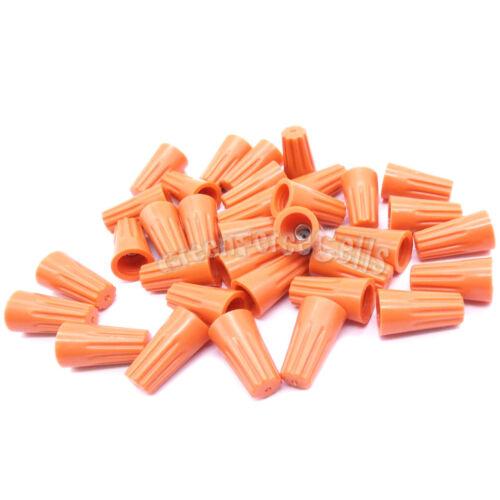200 pcs Orange P2 Screw On Nuts Standard Type Twist On Barrel Wire Connectors