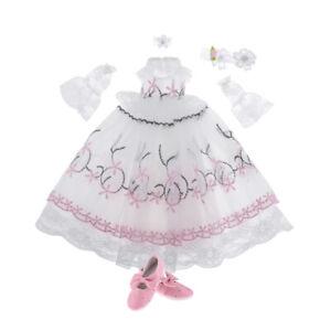 Fashion-Doll-Princess-Spitzenkleid-High-Heels-Schuhe-fuer-1-3-BJD-Girl-Dolls