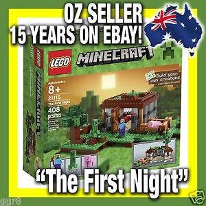 21115-IN-STOCK-LEGO-MINECRAFT-034-The-First-Night-034-Micro-World-RARE-Mine-Craft