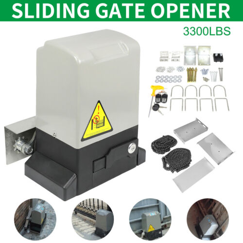 Automatic Sliding Gate Opener Auto-Close Security System Door Operator 3300LBS