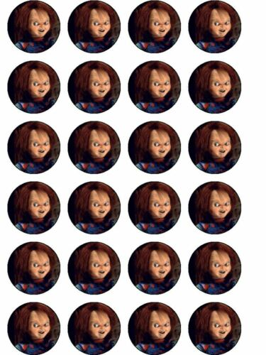 Groovy 24 X Horror Chucky Rice Paper Birthday Cake Toppers Ebay Funny Birthday Cards Online Sheoxdamsfinfo