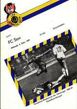 CWC EC II 86/87 1. FC Lok Leipzig - FC Sion, 04.03.1987