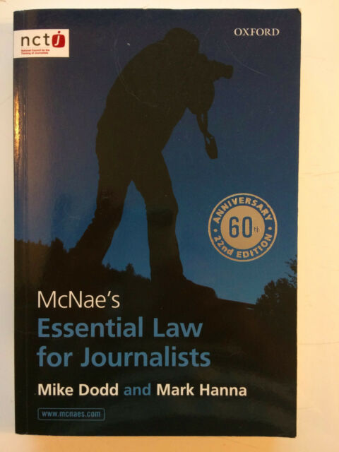 McNae's Essential Law For Journalists - Mike Dodd and Mark Hanna 2012