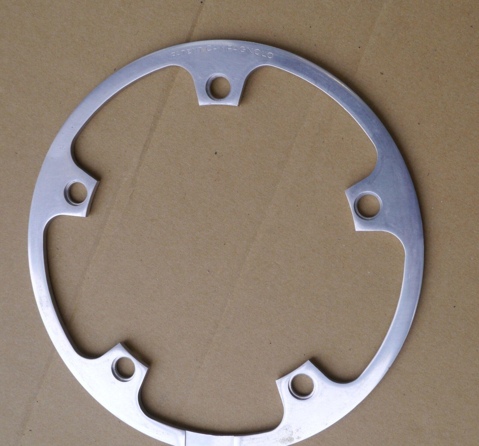 NOS Campagnolo aluminium crankset chain guard, 185 mm, 5 holes 144 Bcd