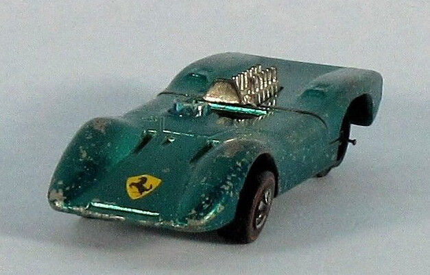 Mattel Hot Wheels Ferrari 312P (vert atteint) Échelle 1 64 Diecast modèle ultra-rare