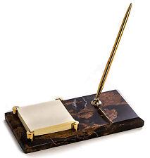 Desk Accessories Marble Pen Stand Amp Memo Holder