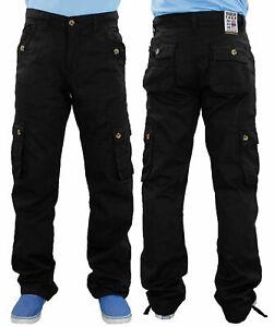 Mens-Work-Trousers-Regular-Fit-6-Pockets-Cotton-Combat-Cargo-All-Waist-Sizes
