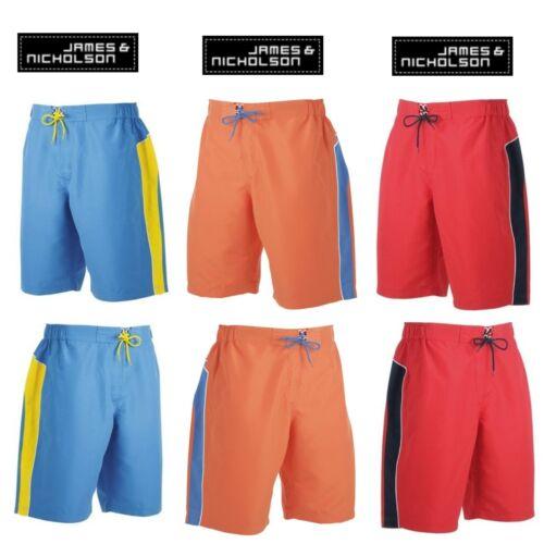 colori S M L XL XXL James /& Nicholson balneazione Shorts Bermuda Costume TEFLON DIV