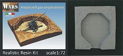 WARS Postazione cannone antiaereo/Antiaircraft gun emplacement kit 1/72