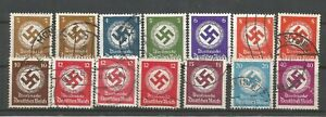 German Third Reich Stamps --  Swastika   Lot   - Used
