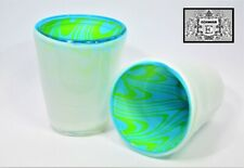 GE063 Gigantic Art Glas Handgefertigt Trinkglas Trinkbecher ca 11 x 8 cm