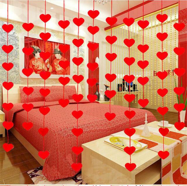 Non-woven Garland Love Heart Curtain Wedding Supplies Wedding Decoration Room
