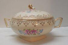 National Brotherhood of Operative Pottery Potters China 22 K Gold Lidded Bowl