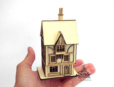 Maison de poupées miniature 144th échelle Découpe Laser Kit-Les contrebandiers reste Tudor Inn