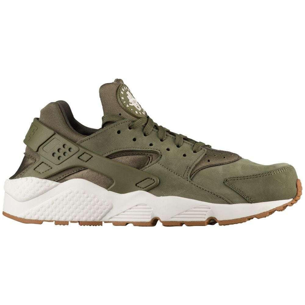 Nike Air Huarache Mens 318429-201 Medium Olive Sail Gum Running Shoes Size 11