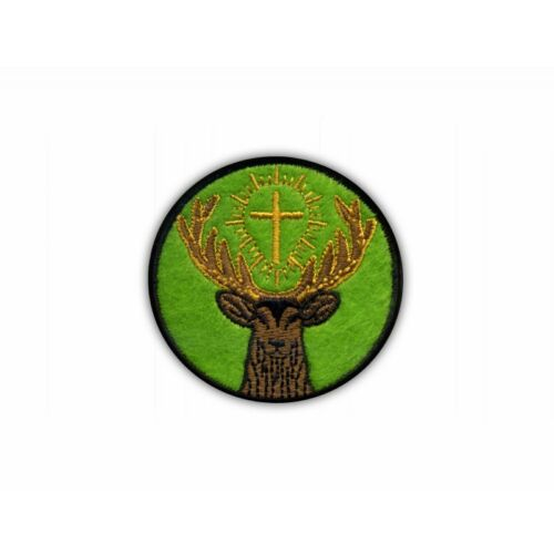 Hubert green background Embroidered PA Symbol St the patron saint of hunters