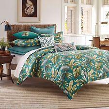 2-Pc Tommy Bahama Paradise Palm Twin Duvet Set Tropical Floral Beach Turquoise