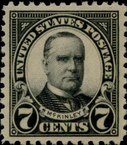 1923 7c William McKinley, Black Scott 559 Mint F/VF NH