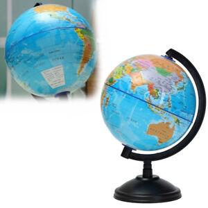 Eg-Eg-14-2cm-Tournant-Terre-Globe-Carte-Du-Monde-Pivotant-Support-Geographie