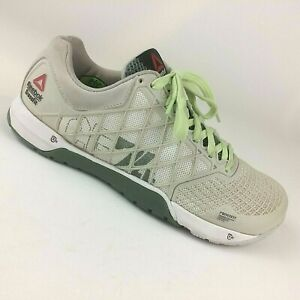 Details about Reebok Crossfit Nano 4.0 CF74 White Gray Athletic Workout Shoes Womens Size 8