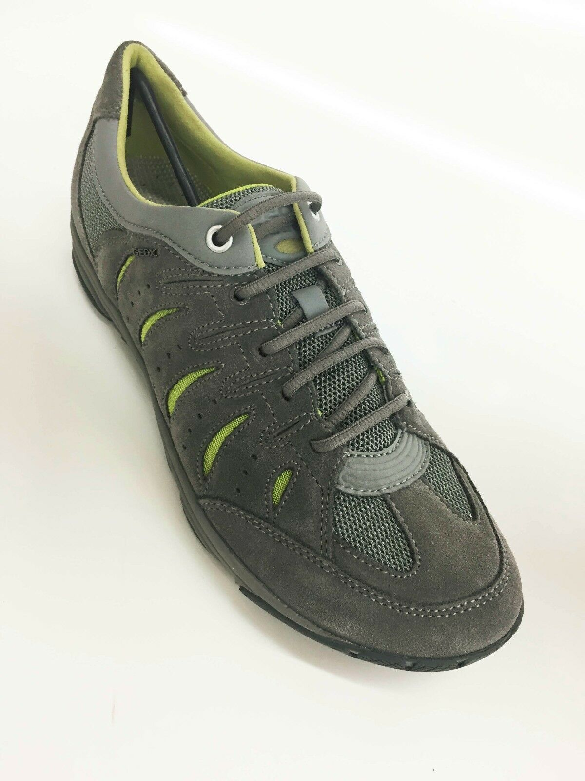 New Geox Men's Mxense1 Sneaker shoes Grey green sz 7