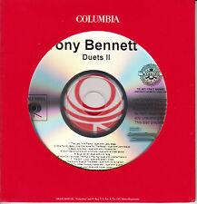 TONY BENNETT Duets II US 17-track promo CD Mariah Carey Lady Gaga Amy Winehouse