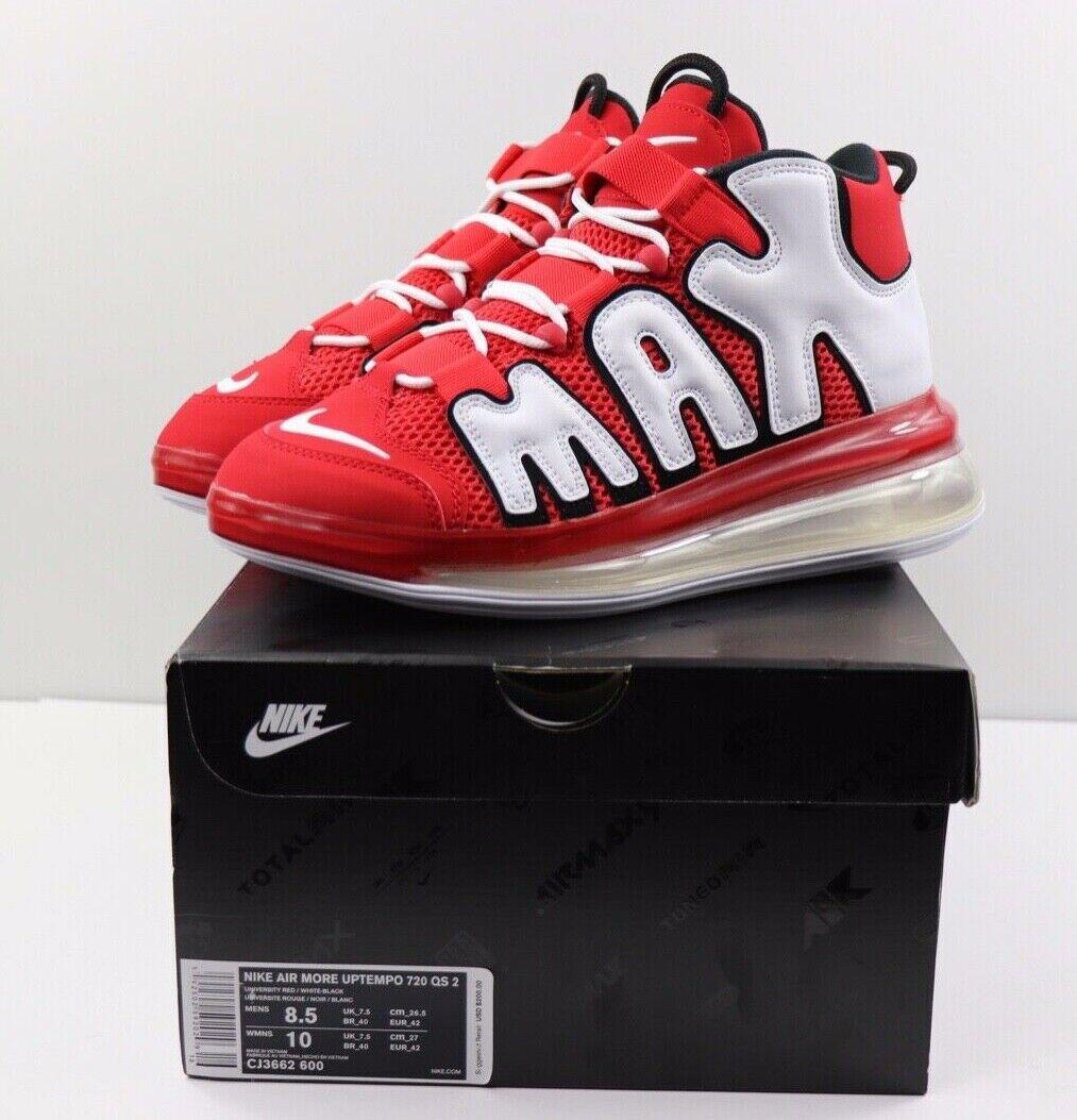 Nike Nike Nike Air More Uptempo 720 Qs 2 Rot Weiß Schwarz