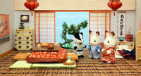 Sylvanian Families C-38 Washitsu Set Japanese Room Epoch Ems From Japan