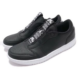 d0579ec8c475 Nike Wmns Air Jordan 1 RET Low Slip On I AJ1 Black White Women Shoes ...