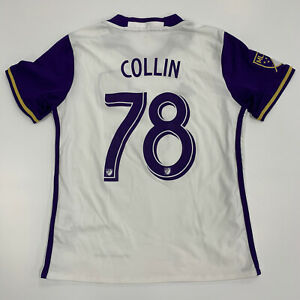 Rare Adidas Orlando City Sc Aurelien Collin 2015 Mls Soccer Jersey Kids M Medium Ebay