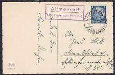 DR Mer n. 514 EF AK vita posthilfsst. allmenrod-Lauterbach-Francoforte