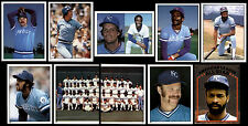 (44) KANSAS CITY ROYALS 1981 TOPPS STICKERS-NM/MT-BRETT, WILSON, AIKENS, LEONARD