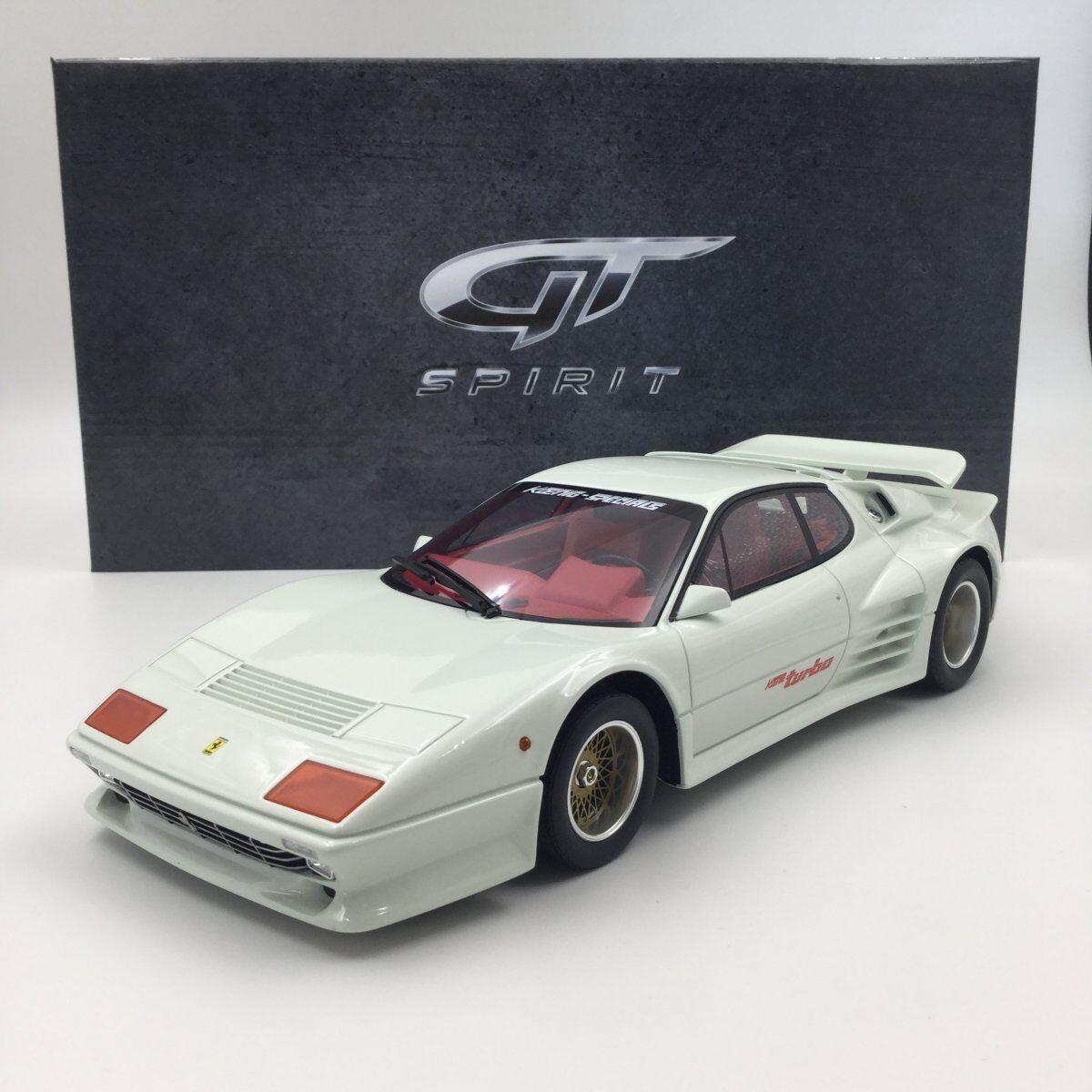 Résine modèle de voiture GT Spirit Koenig 512 BBi Turbo (Blanc) 1 18 + eau