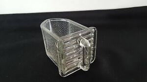 1  alte Glasschütte Glas Schublade klein von Gerrix