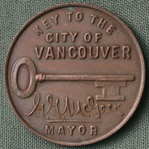 1936-Vancouver-B-C-Canada-Golden-Jubilee-Key-to-City-Mayor-GG-McGeer-Medallion