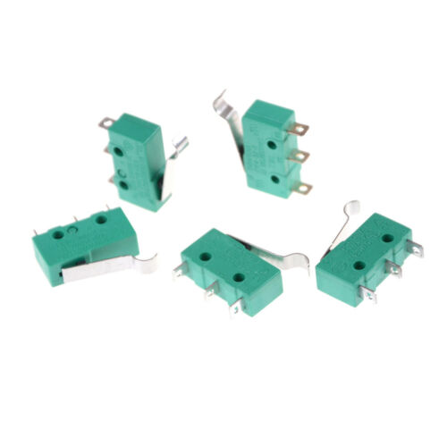 5pcs KW4-3Z-3 SPDT NO NC Momentary Hinge Lever Limit Switch Microswitch .