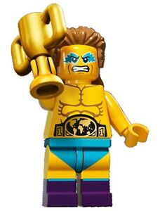 LEGO Minifigures Series 15 Wrestler Champion with trophy